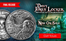 Davy Jones' Locker Privateer Ultra High Relief Silver Round 2 oz - IN-STOCK!!