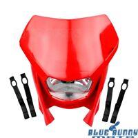 Supermoto Red Headlight Lamp Universal Fit Honda CRF250X CRF450X CRF250L XR400