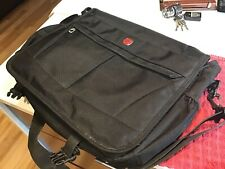 Swiss Gear Black Briefcase Messenger Shoulder Bag Nylon Work School
