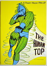 POWER PIN-UP Print - HUMAN TOP Vintage Art Marvel UK Distribution X-Men