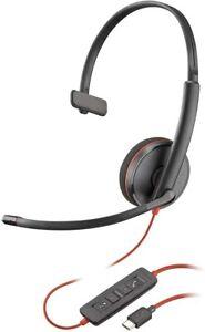 Plantronics Blackwire C3210 USB-C Headset, On-Ear Mono Wired Headset