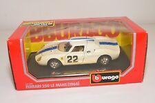 V 1:24 BBURAGO BURAGO 1506 FERRARI 250 LE MANS 1966 WHITE MINT BOXED