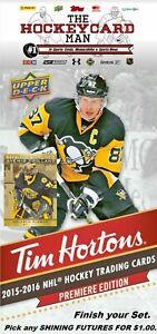2015-16 Tim Hortons Hockey - SHINING FUTURES - Finish your Set - Pic any card $1