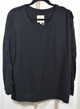 Chaser Love Knit Sleepwear Lace Up Dolman Drop Shoulder Pullover Size Large