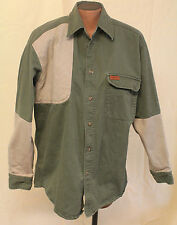 WOOLRICH Outdoor Guide Collection Olive size M Shirt Hunting Fishing Long Sleeve