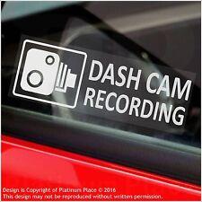 5 X Pegatinas de Advertencia de Grabación Cámara en Tablero - 30mm Cctv signos-coche, taxi, MINI CAB van