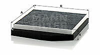 MANN-FILTER Charcoal Cabin Air Filter CUK2855/1 fits Volvo XC70 CROSS COUNTRY 29