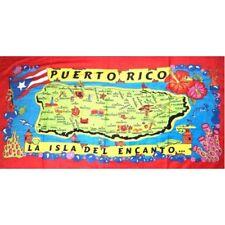 Puerto Rico Island & Name of Municipaltie 30 x 60 Inchs Towel