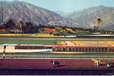 SANTA ANITA HORSE RACE TRACK SCENE SAN GABRIEL MTS. IN BACKGROUNS ARCADIA, CA