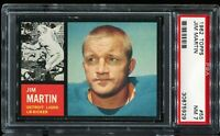 1962 Topps Football #55 JIM MARTIN Detroit Lions PSA 7 NM