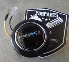 NRG Steering Wheel Center Horn Button Black w/ NRG LOGO