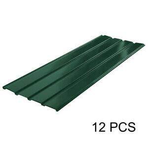12x Profilblech Dachblech Stahlblech Dachplatten Metallblech Metall Platten Grün