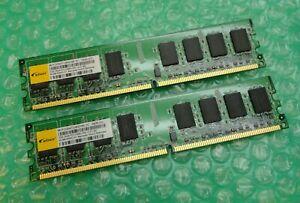 4GB Kit (2 x 2GB) Elixir M2Y2G64TU8HD5B-3C PC2-5300U 667MHz DDR2 Desktop Memory