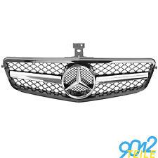 für Mercedes AMG LOOK Grill W204 S204 Limo GLANZ SCHWARZ Kühlergrill Frontgrill