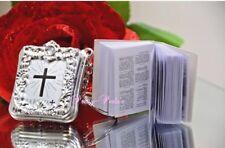 24PC Baptism Mini Bibles Party Favors Keychains Communion Recuerdos de Bautizo