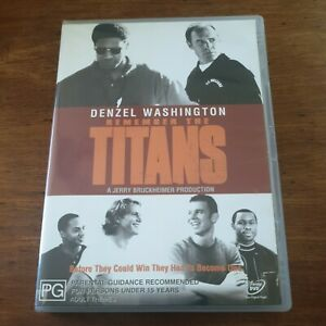 Remember the Titans DVD R4 Like New! FREE POST