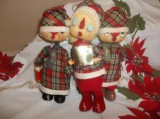 Rare  Vintage NOEL Japan Christmas Choral ChoIr Dolls HTF Set of 3 Copper Wiring