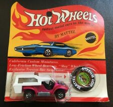 1969 HOT WHEELS RED LINE POWER PAD HOT PINK SEALED ON BLISTER CARD