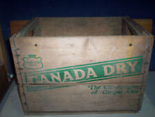 """Vintage Canada Dry 1974 Wooden Soda Pop Crate Box """"The Champagne of Ginger Ale"""""""