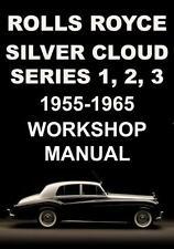 ROLLS ROYCE SILVER CLOUD S1, S2, S3 WORKSHOP MANUAL 1955-1965