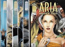 ARIA #1-#4 SET WITH PREVIEW AND EXTRA VARIANT #4 COVER (NM-) AVALON STUDIOS