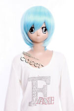 W-257 EVA REI AYANAMI Re: Zero REM Cosplay Anime Perruque Wig Bleu Blue Court Cheveux