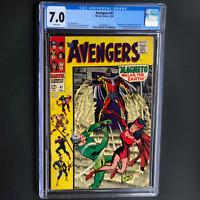 AVENGERS #47 (1967) 💥 CGC 7.0 WHITE PGs 💥 1ST DAVE WHITMAN (AKA BLACK KNIGHT)!