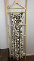 Oxente Size M Womens Leopard Print Summer Maxi Dress Cheeta Summer Blouson
