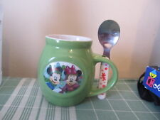 Disney's Mickey & Minnie Mouse Snowflake Coffee mug with spoon