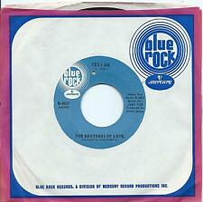 Brothers Of Love:Yes I am/Sweetie pie:US Blue Rock:Northern Soul