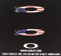 Oakley Turbine Rotor Sunglasses Frame Replacement Icons Kit Pair USA Flag New