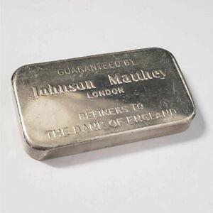 Johnson Matthey 100g .999 Silver National Bank of Commerce Seattle Bar /JMxx87