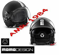 CASCO MOMO FIGHTER FGTR NEGRO MATE - BLANCO TALLA XS + VISERA OSCURO INTERNA