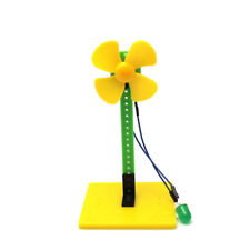 Mini Wind Power LED Blowing Generator Science Education Experiment Toys for Kids