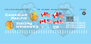 Canadian Pacific CP AC4400 Holiday Engine Decal Set N Scale 9773 9774 8638 8642