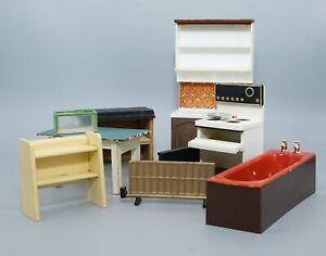 Job Lot Vintage 1/16th 1970s Lundby Barton Dolls House Furniture