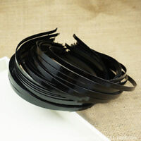 Lot 50 X Plain Black Metal Hair Band Headbands 3/5/7mm DIY Craft Hair Accessory