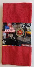 "U.S. MARINE CORPS TRI-FOLD GOLF TOWEL 16"" X 24"""