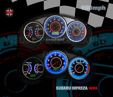 Subaru Impreza WRX uk spec interior speedo dash custom lighting upgrade dial kit