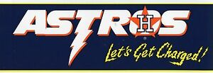 HOUSTON ASTROS BASEBALL TEAM BUMPER  STICKER VINTAGE   1993 MINT Nice