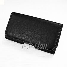 Belt Clip Leather Case Cover Pouch Holster For HTC ONE M7