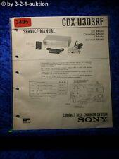 Sony Service Manual CDX U303RF CD Changer (#3495)