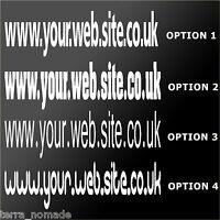 2X Custom Web Address Sticker Car Van Shop Sign Window/Wall Vinyl Sign Decal