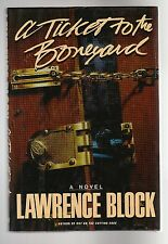 Lawrence Block, A TICKET TO THE BONEYARD, 1st/1st, F/F