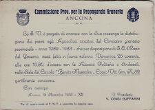 #ANCONA: COMMISSIONE PROV. PER LA PROPAGANDA GRANARIA- CONCORSO AGRARIO 1933