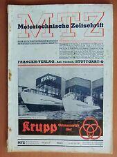 MTZ Motor-Technische Zeitschrift 1941 mit Krupp Junkers Pimeter Bohranlagen ...