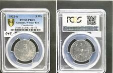 3 Mark Aluminium J.303 1922 A  Polierte Platte (PP, Proof) PCGS PR65
