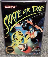 "Skate or Die Nintendo NES Vintage Game Box  2""x3"" Fridge Locker MAGNET"