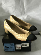 NIB Authentic CHANEL Beige Quilted Leather Shoes Pumps SZ 9  39.5  Italy $ 825