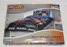Lego Star Wars Black Printed Single Bed Microfibre Quilt Cover Set New